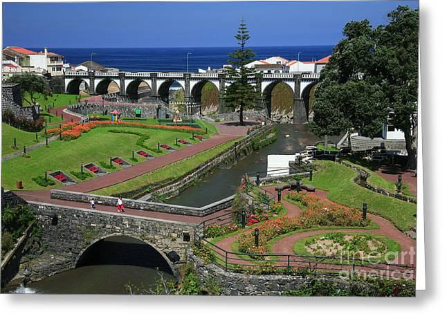 The Gardens Of Ribeira Grande Greeting Card by Gaspar Avila