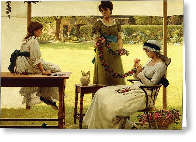 The Garland Greeting Card by George Dunlop Leslie