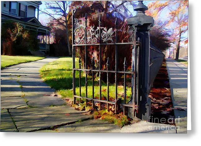 The Gate Greeting Card by Betsy Zimmerli