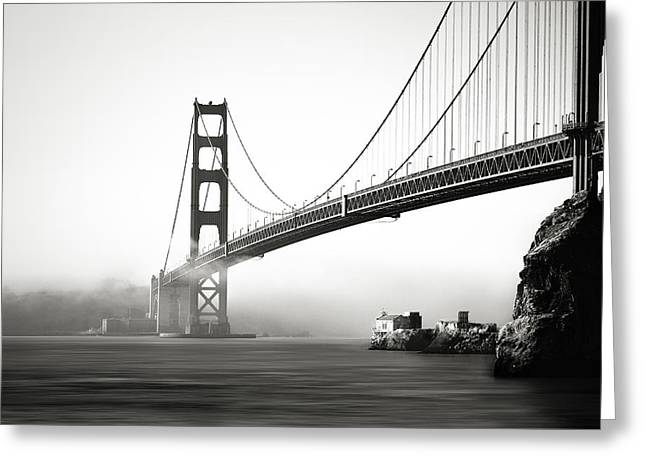 The Gate Bridge Greeting Card by Eduard Moldoveanu
