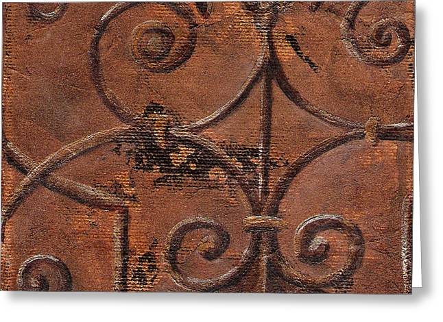 Old Wall Mixed Media Greeting Cards - The Gate Greeting Card by Chris Brandley