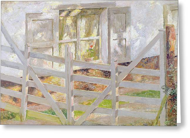 The Gate Greeting Card by Emile Claus