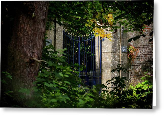 Greeting Card featuring the photograph The Gate by Jeremy Lavender Photography