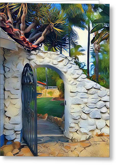 The Gate To Paradise Greeting Card by Karyn Robinson