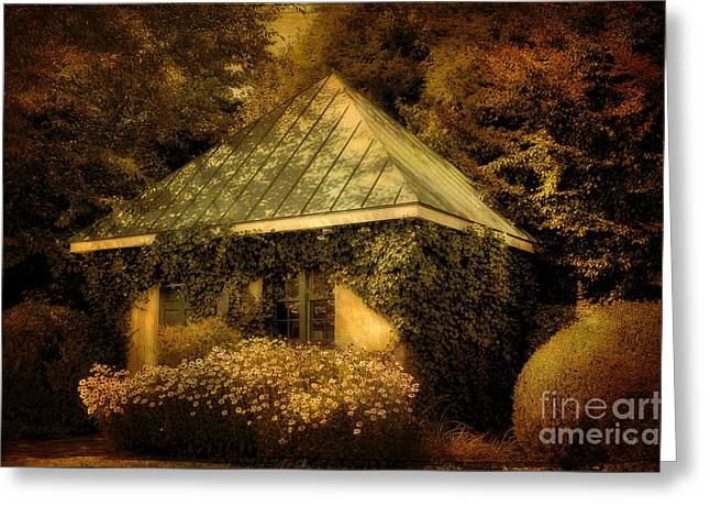 The Gatehouse Greeting Card by Lois Bryan