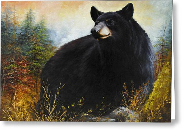 Wildlife Sunset Greeting Cards - The Gatekeeper Greeting Card by Katherine Tucker