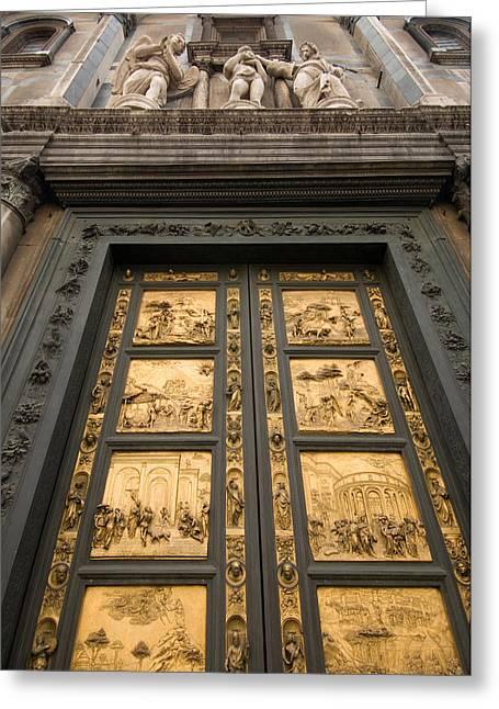 The Gates Of Paradise Doors Greeting Card by Joel Sartore