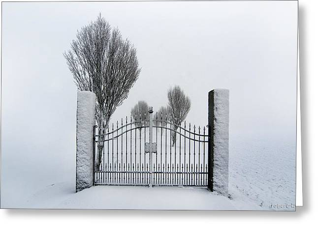 The Gates To Nowhere Greeting Card by Robert Lacy