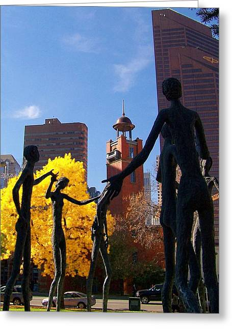 Dancing Figurine Greeting Cards - The Gathering Greeting Card by Greg Hammond