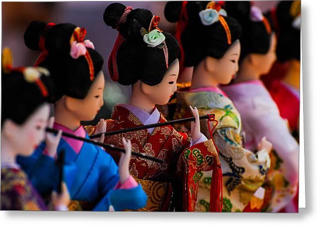 The Geisha Greeting Card by Tom Carney