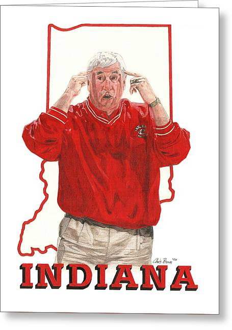 The General Bob Knight Greeting Card