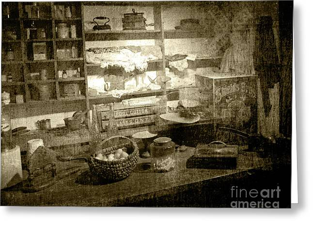 Greeting Card featuring the photograph The General Store by Pete Hellmann