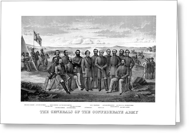 The Generals Of The Confederate Army Greeting Card by War Is Hell Store