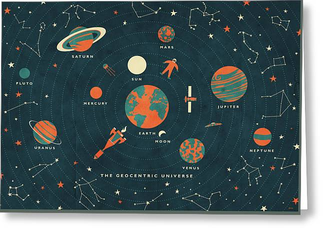 The Geocentric Universe Greeting Card