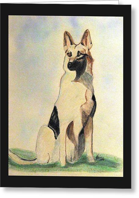 The German Shepherd Friend For Life Greeting Card