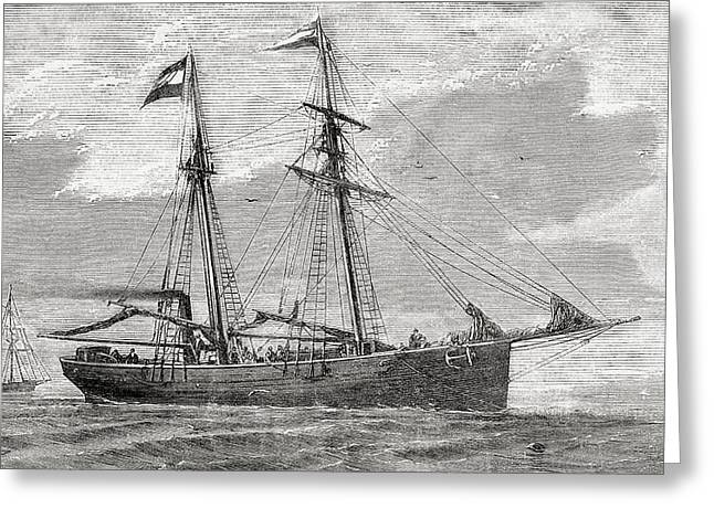 The Germania. Part Of The Convoy Which Greeting Card by Vintage Design Pics