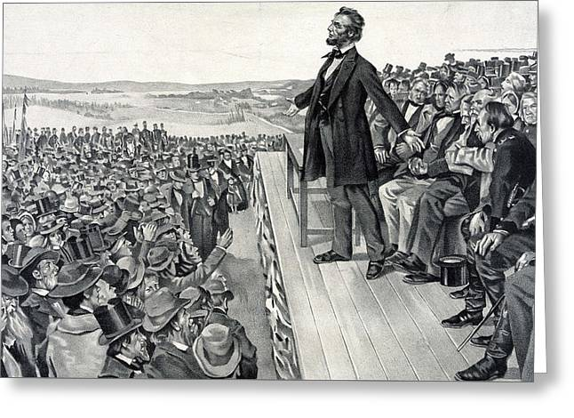 The Gettysburg Address Greeting Card by American School
