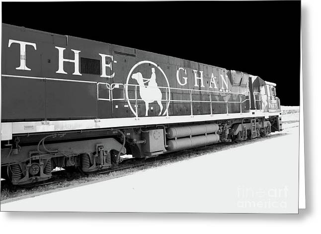 The Ghan Bw Greeting Card