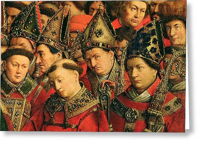 The Ghent Altarpiece Greeting Card by Van Eyck