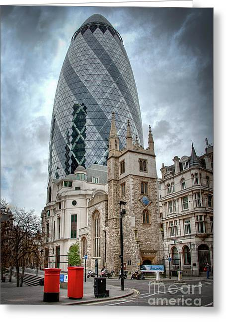 The Gherkin Greeting Card by Donald Davis