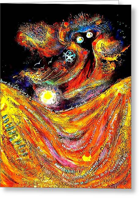 Ion Vincent Danu Greeting Cards - The Ghost of Madness Greeting Card by Ion vincent DAnu