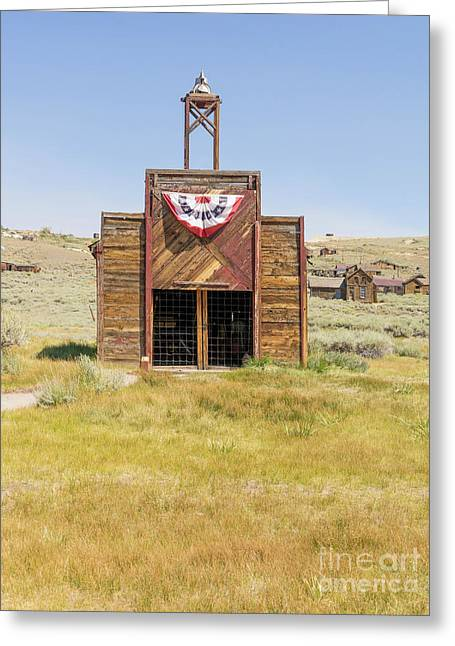 The Ghost Town Of Bodie California Fire House Dsc4431 Greeting Card by Wingsdomain Art and Photography