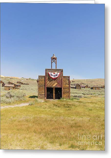 The Ghost Town Of Bodie California Fire House Dsc4432 Greeting Card by Wingsdomain Art and Photography
