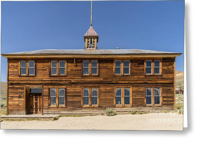 The Ghost Town Of Bodie California School House Dsc4461 Greeting Card by Wingsdomain Art and Photography