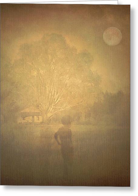 The Ghost Turns Away Greeting Card