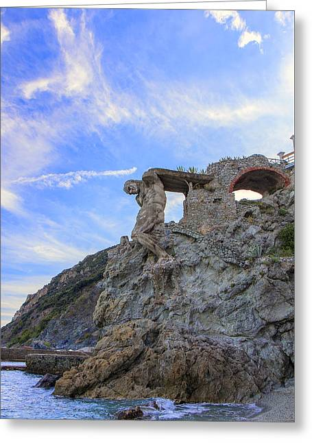 The Giant Of Monterosso Greeting Card by Rick Starbuck
