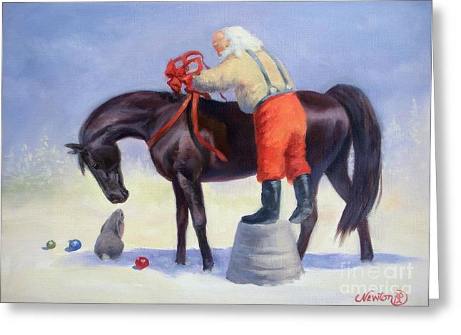 The Gift Horse Greeting Card by Jeanne Newton Schoborg