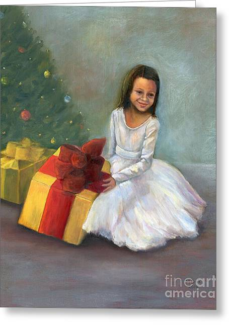 Greeting Card featuring the painting The Gift by Marlene Book