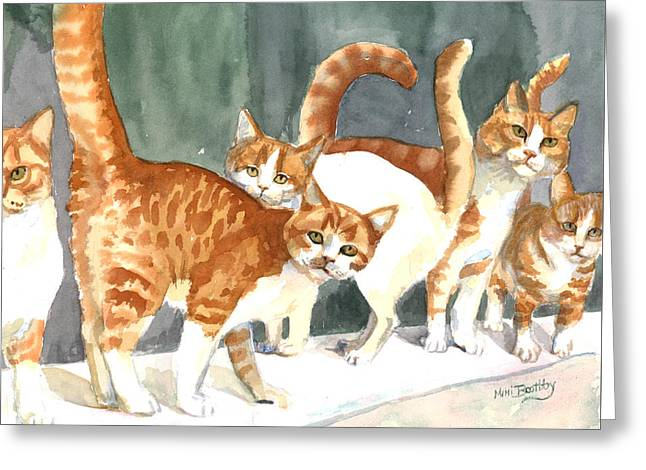 The Ginger Gang Greeting Card