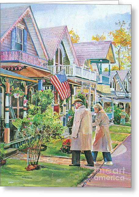 The Gingerbread Cottages Greeting Card