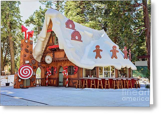 The Gingerbread House Greeting Card by Eddie Yerkish