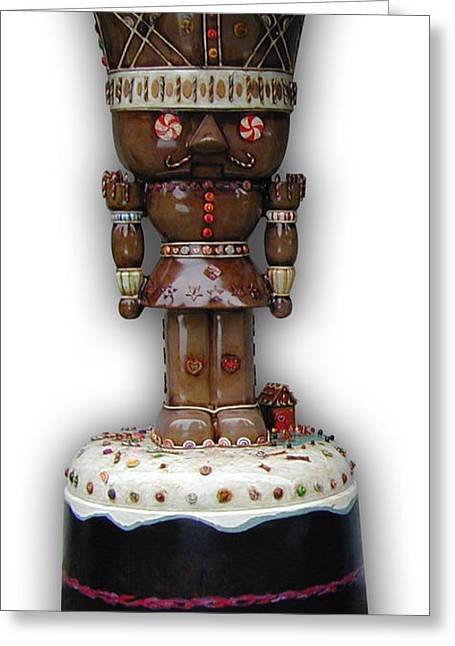 The Gingerbread King Greeting Card by Paul Illian