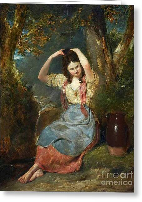 The Girl At The Well Greeting Card