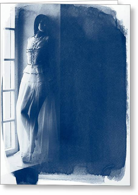 The Girl At The Window. Greeting Card