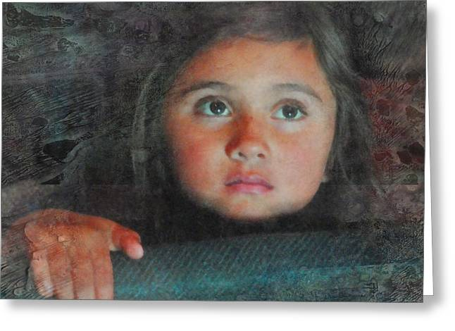 The Girl With The Chocolate Eyes Greeting Card