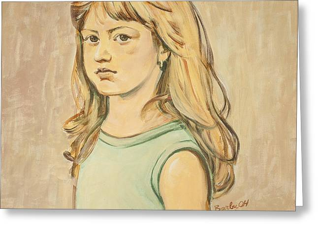 The Girl With The Golden Hair Greeting Card