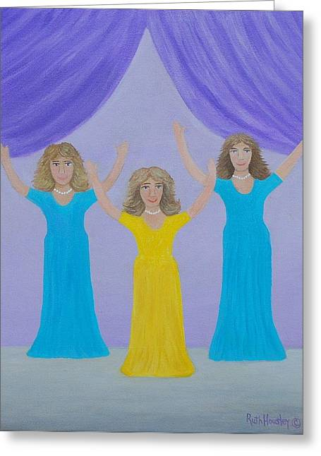 The Giving Of Praise Greeting Card by Ruth  Housley