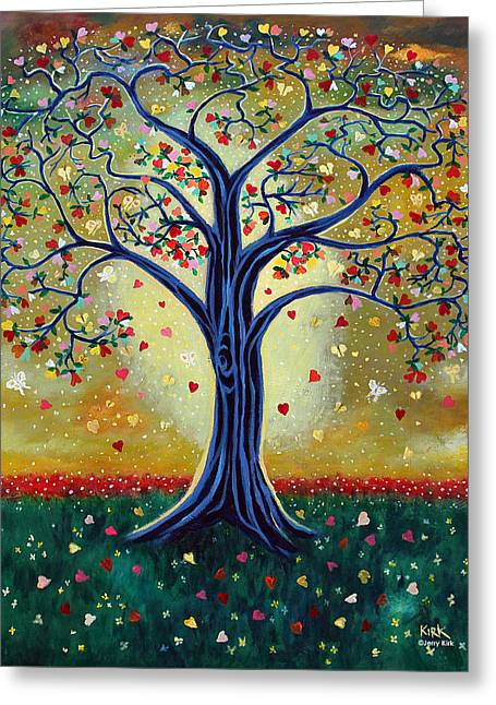 The Giving Tree Greeting Card by Jerry Kirk