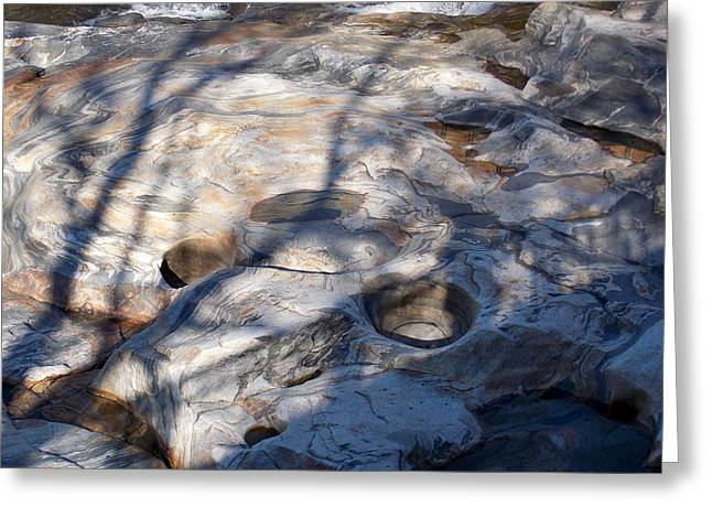 The Glacial Potholes Greeting Card by Catherine Gagne