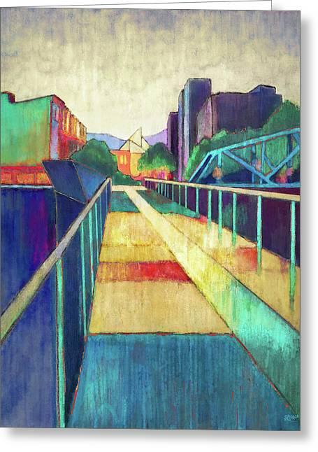 The Glass Bridge Greeting Card