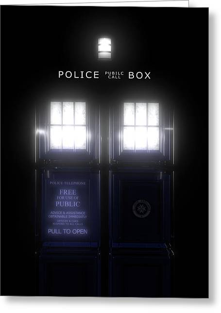 The Glass Police Box Greeting Card