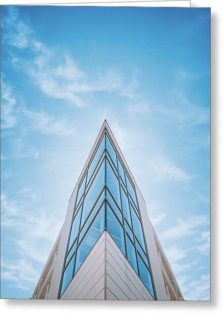 The Glass Tower On Downer Avenue Greeting Card by Scott Norris