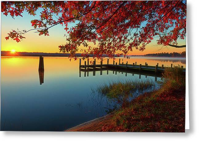 Greeting Card featuring the photograph The Glassy Patuxent by Cindy Lark Hartman