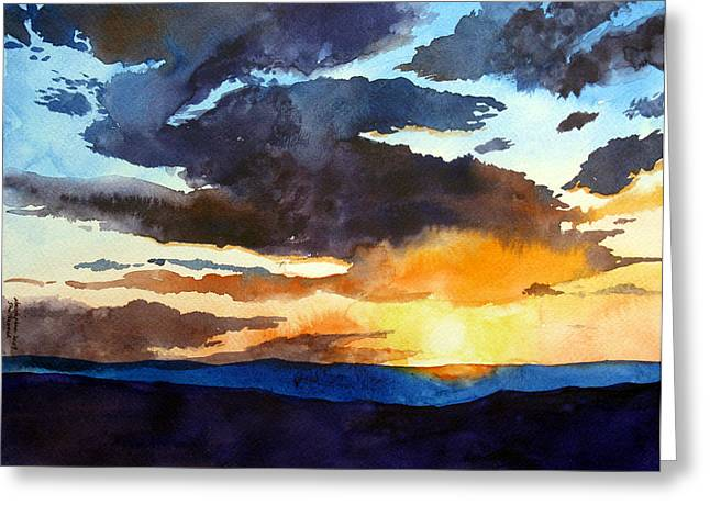 The Glory Of The Sunset Greeting Card