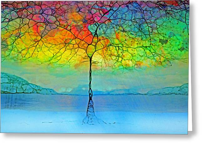 The Glow Tree Greeting Card by Tara Turner