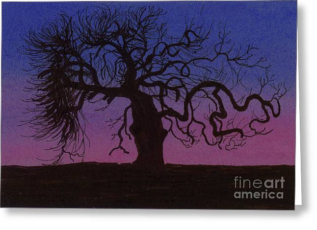 The Gnarly Tree Greeting Card by Jackie Irwin